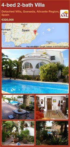 4-bed 2-bath Villa in Detached Villa, Quesada, Alicante Region, Spain ►€320,000 #PropertyForSaleInSpain