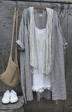 Linen Clothes - Clothes for Women Mode Outfits, Fashion Outfits, Womens Fashion, Jeans Fashion, Fashion Ideas, Fashion Trends, Summer Outfits, Casual Outfits, Estilo Hippy