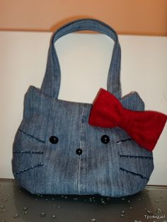 recycle jean Hello, Kitty!  Gotta do this for my granddaughter.  She loves Hello Kitty