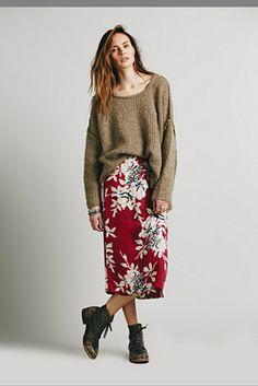 Free People Womens Lax Print Skirt