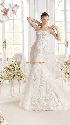 Meerjungfrau-Linie/Mermaid-Stil Elegant & Luxuriös Reißverschluss Brautkleider 2014