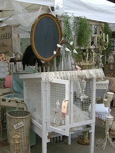 Glitterfest my booth; Seriously how cute is this Rabbit hutch in white, I love it!  Make a Great Toy Box for girls rooms  full of Dolly's and Bears etc.  LOVE
