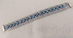 04  Chain Maille Armband  Chainmaille Bracelet von TroisPerles