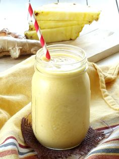 Turmeric Ginger Colada Smoothie