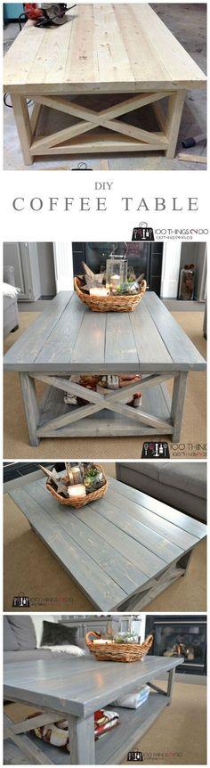 Wonderfully Wooden Farmhouse Coffee Table