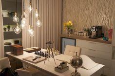 Home office - projeto Luiz Fernando Gravowsky #decor #homeoffice #assimeugosto #interiordesign