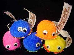 I always called these wooly boogers. They had sticky feet and you could put them anywhere!
