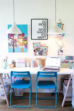 Un despacho LOW COST con toques en ROJO | Decorar tu casa es facilisimo.com
