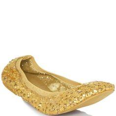 JustFab  Lainey  Gold Heels