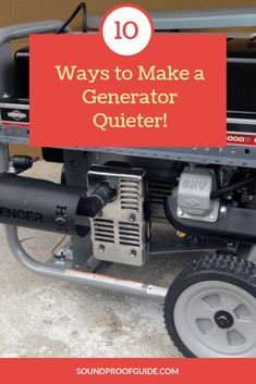 How to Make a Portable Generator Quieter for Camping - 10 Best Ways! Quiet Portable Generator, Home Backup Generator, Generator Shed, Emergency Generator, Water Generator, Honda Generator, Portable Inverter Generator, Soundproof Box, Lawn Mower Repair