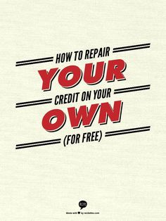 Learning how to fix your credit is something you can do yourself. Our comprehensive do-it-yourself credit repair collection is full of free credit repair information. Building Credit Score, Boost Credit Score, Free Credit Score, Improve Your Credit Score, Fix Bad Credit, How To Fix Credit, Build Credit, Financial Peace, Financial Tips