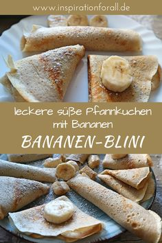 Bananen-Blini – einfaches Rezept für süße Pfannkuchen I'll show you a simple and quick recipe for delicious banana Blini. The pancakes with bananas will love both adults and children. Quick Recipes, Raw Food Recipes, Quick Easy Meals, Lacto Vegetarian Diet, Panna Cotta, Starchy Foods, Fancy Desserts, Banana Pancakes, Base Foods