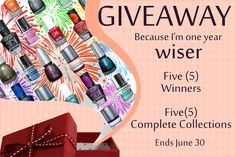Giveaway China Glaze Julie G Nabi L.A. Girl Superficially Colorful Lacquer