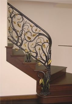 Branches with Leaves Stair Railing. Elvish, perhaps Sindarin (: