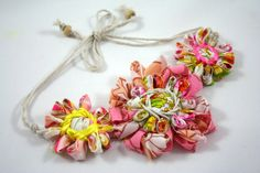 Daisy+Chain+Flower+Loom+Necklace+Pink+by+neekienoo+on+Etsy,+$15.00