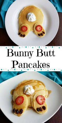 Bunny Butt Pancakes for Easter and a recipe for homemade Pancakes – Special Recipes For Easter Easter Recipes, Baby Food Recipes, Holiday Recipes, Cooking Recipes, Holiday Meals, Easter Dinner Recipes, Easter Breakfast Recipes, Special Recipes, Homemade Pancakes