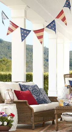 4th of July Burlap Party Banner