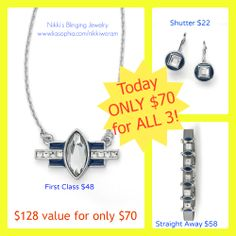 DEAL OF THE DAY BLACK FRIDAY ONLY!! Nikki's Blinging Jewelry www.liasophia.com... ***Buy today and get a FREE gift from ME!!***
