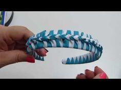 Diy Diadema Tejida Nudos Ysabel Pap, # 516, Vinchas doble color trenzadas variedad tejido - YouTube