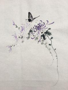 Watercolor Flowers, Watercolor Tattoo, Chrysanthemum, Painting & Drawing, Magnolia, Lamps, Paintings, Tattoos, Drawings