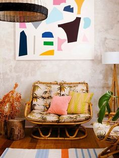 Bohemian home decor.