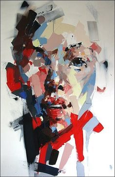"""Ryan Hewett - """"Fractured 2 fragments of color"""" Abstract Portrait, Portrait Art, Art And Illustration, Figure Painting, Painting & Drawing, Painting Inspiration, Art Inspo, Kunst Inspo, Figurative Kunst"""