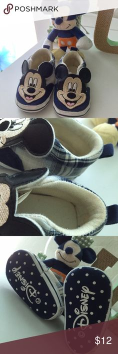 Micky Mouse Crib Plaid Shoes Michael Kors sneakers crib shoes. 3-6 months. Preloved in good condition. Really cute! From smoke & pet free home. Disney Shoes Baby & Walker