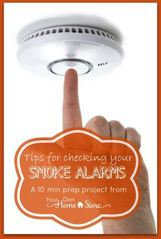 You know smoke alarms are there to save your life, right? So......if it doesn't have batteries or isn't working (or isn't even there!), then it is a bit pointless to have one at all. Check yours today (Click for tips) http://www.yourownhomestore.com/check-smoke-alarms/