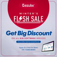 Avail attractive discounts on Ezulix's winter flash sale. Web Application Development, Mobile Application, Design Development, Software Development, Business Software, Portal, Web Design, How To Apply, India