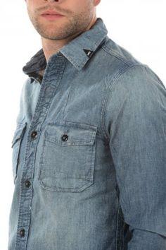 Denham shirt Uniform Indigo 01 13 06 40 006 0 Indigo » JeansandFashion.com