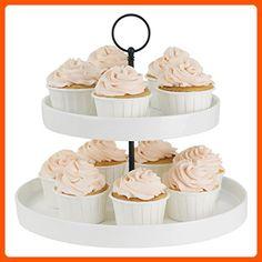 Sweese Cupcake Stand - 2 Tier Porcelain Dessert Platter, Ivory White - Kitchen gadgets (*Amazon Partner-Link)