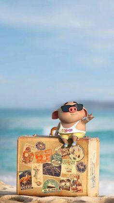 Pig Wallpaper, Iphone Wallpaper, Lock Screen Wallpaper, Animal Wallpaper, This Little Piggy, Little Pigs, Cute Piglets, Pig Illustration, Pig Art