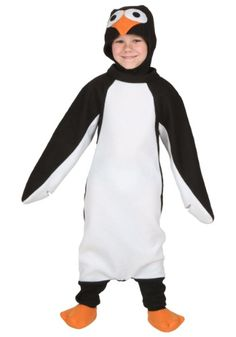 This adorable little Toddler Happy Penguin Costume will transform your child into the arctic's cutest critter!