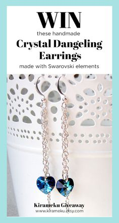 Win a pair of these gorgeous handmade earrings from Kirameku! Click on the link to have all the details!