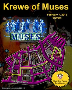 Can't Wait!!! 2013 Krewe of Muses New Orleans Mardi Gras Parade Schedule 2013