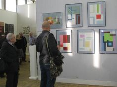 """From April 30 till May 11, 2014 seven (you may see only six on photo) of my abstract works were exhibited at the """"Abstract Painting In The Spirited Space"""" show / Central House of Artists, Moscow - Gallery """"New Era""""."""