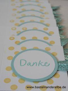 basteln an der Elbe, Danke, Karte, thank you card, Stampin Up
