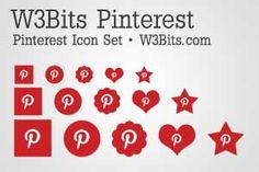 W3Bits Pinterest Icon Set: Free Pinterest Icons