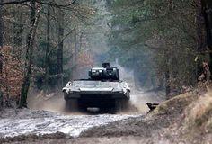 Schützenpanzer Puma - newest infantry fighting vehicle developed in Germany. Bundeswehr received first Puma's in 2010.