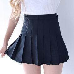 Pleated Tennis Skirt - Black