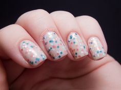 A sandwich with OPI The Living Daylights and OPI Don't Touch My Tutu. | from Chalkboard Nails