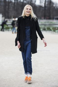 #offduty overalls. cool as. Paris.