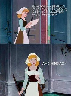 memes de princesas chiste lol funny cenicienta harry potter mexico