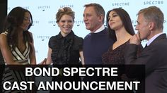 Bond 24 Spectre cast announcement: Ralph Fiennes, Naomie Harris, Ben Whishaw and Rory Kinnear as well as introducing Christoph Waltz, Léa Seydoux, Dave Bautista, Monica Bellucci and Andrew Scott.