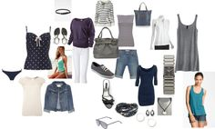 """""""One Week Carry-On Luggage Vacation Wardrobe"""" by anned12 on Polyvore"""