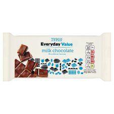 Tesco Everyday Value Milk Chocolate Bar 100G - Groceries - Tesco Groceries