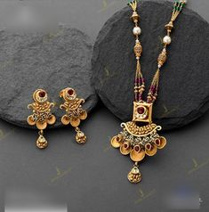 Gold Chain Design, Gold Bangles Design, Gold Earrings Designs, Gold Jewellery Design, Antique Jewellery, Necklace Designs, Gold Wedding Jewelry, Gold Jewelry Simple, Stylish Jewelry
