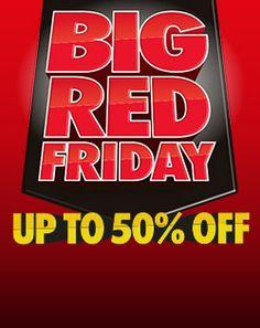 BIG RED FRIDAY Ribbed Crochet, Red Friday, Big