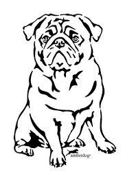 Afbeeldingsresultaat voor breipatroon tekening mopshond