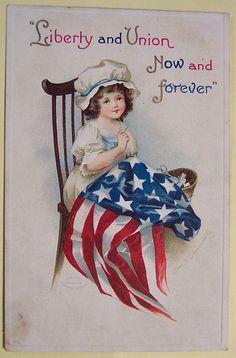 Fourth of July vintage card